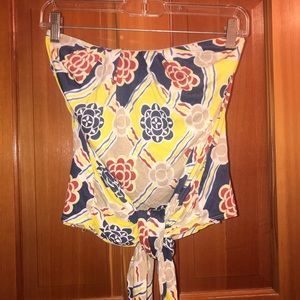 Anthropologie Tops - Anthropologie strapless adjustable tie top Xs